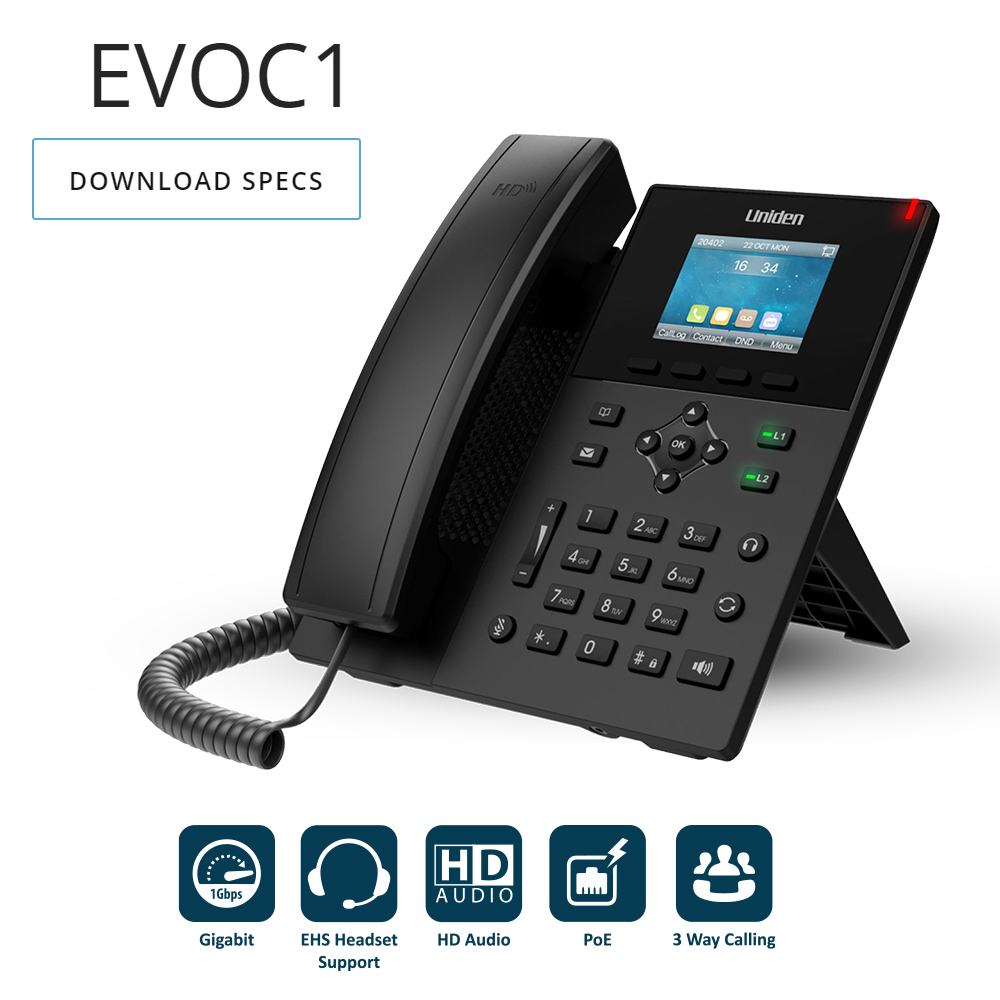 Uniden EVOC1 Hosted Business VOIP Phone