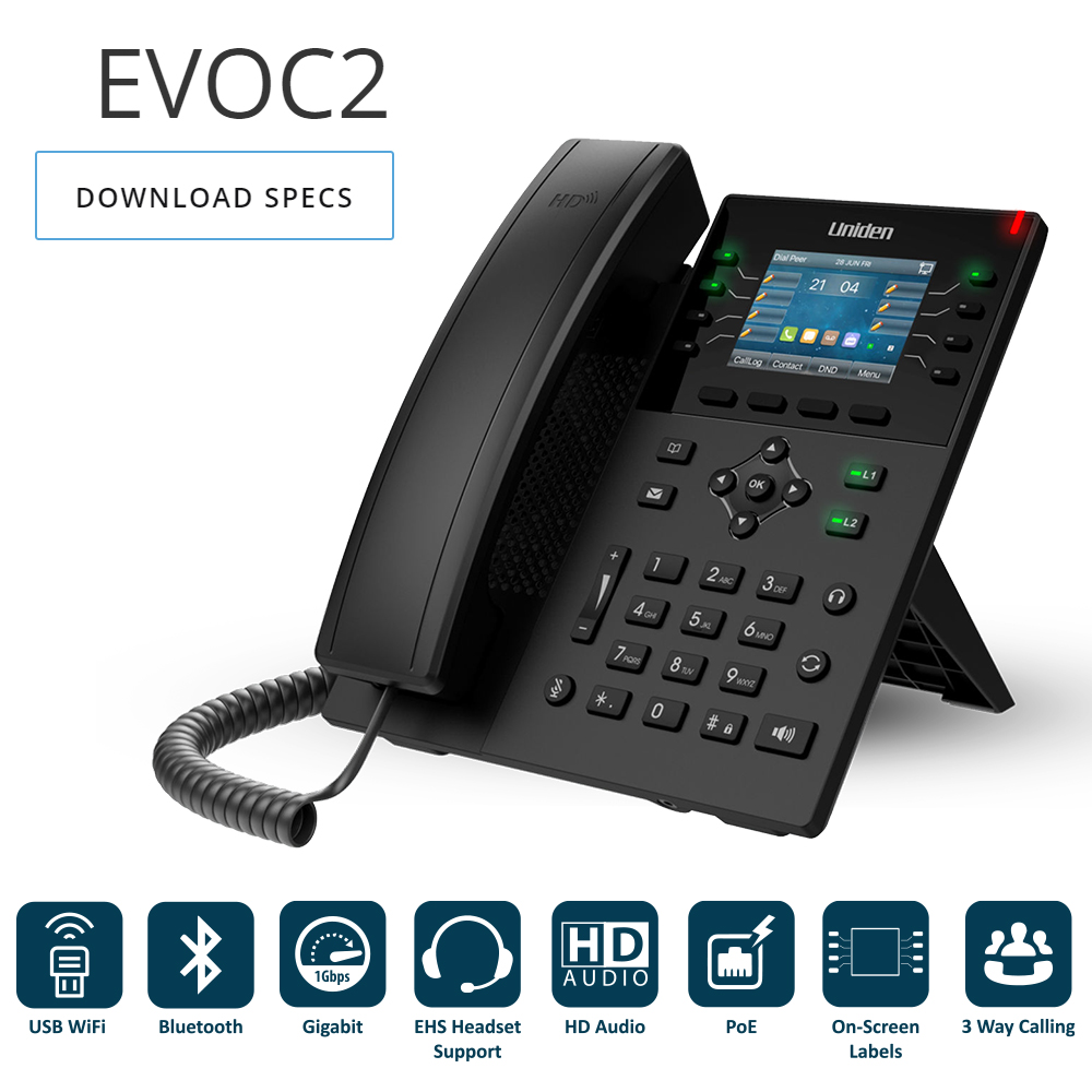 Uniden EVOC2 Hosted Business VOIP Phone